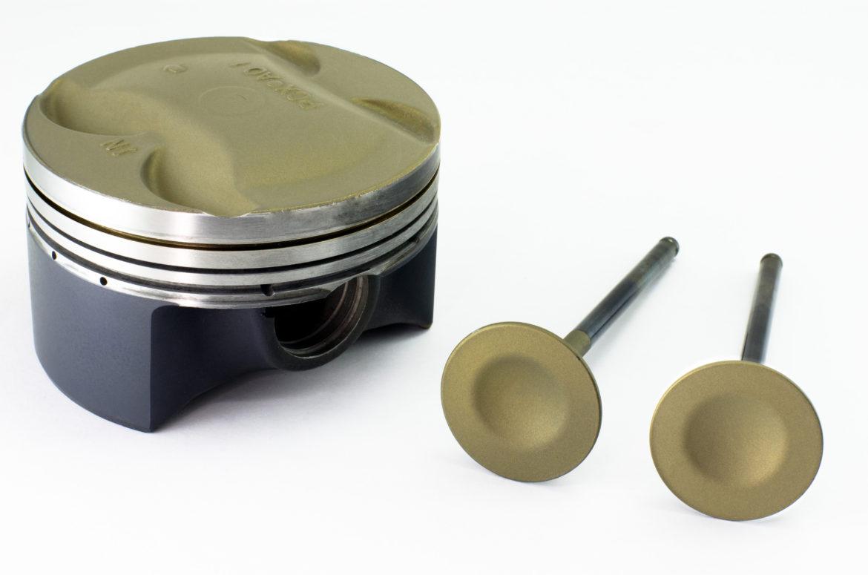 Керамическое покрытие методом запекания Поршень и клапан
